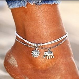Elephant and Sun Ankle Bracelet